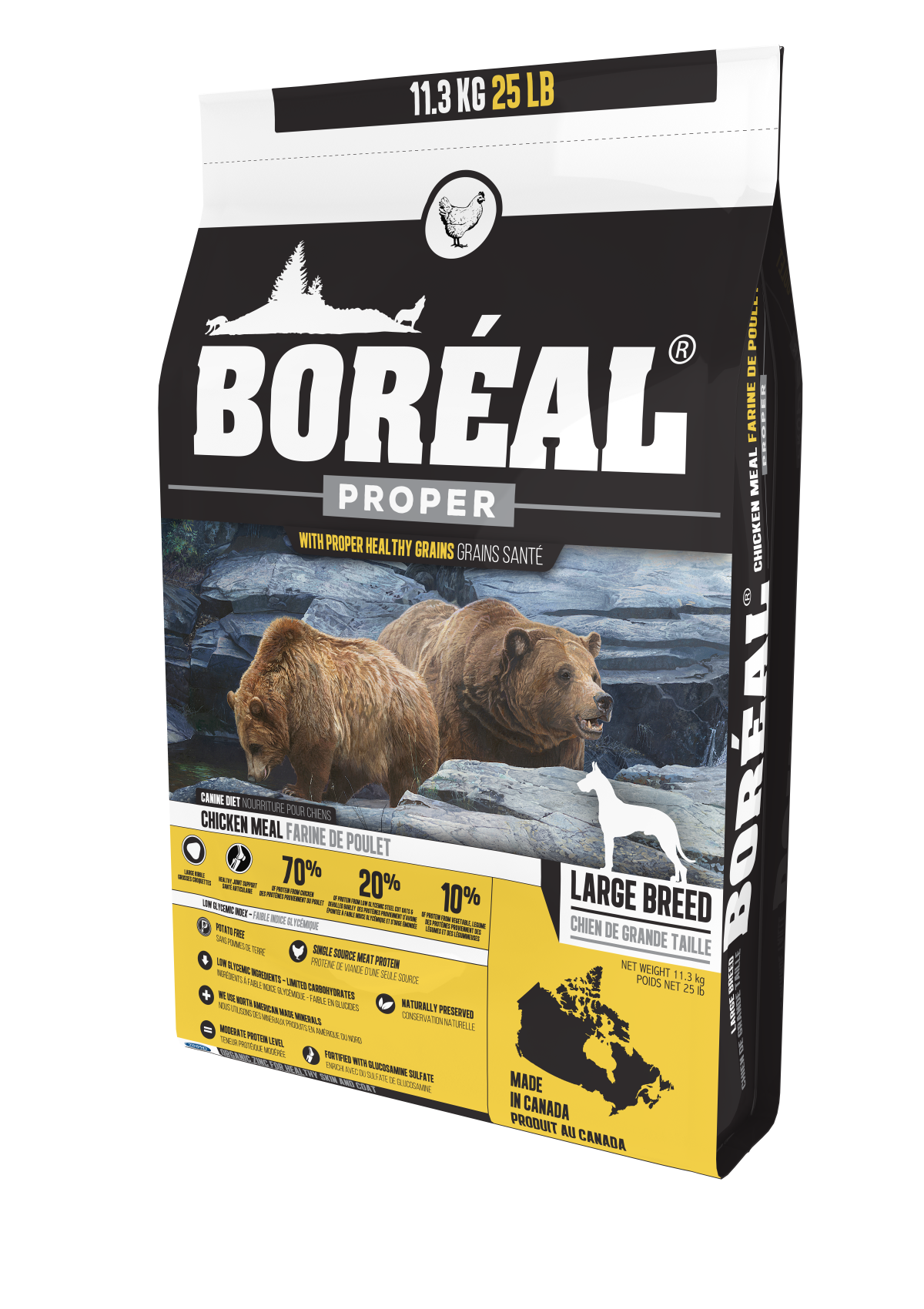 Proper Large Breed Chicken Meal - Low Carb Grains