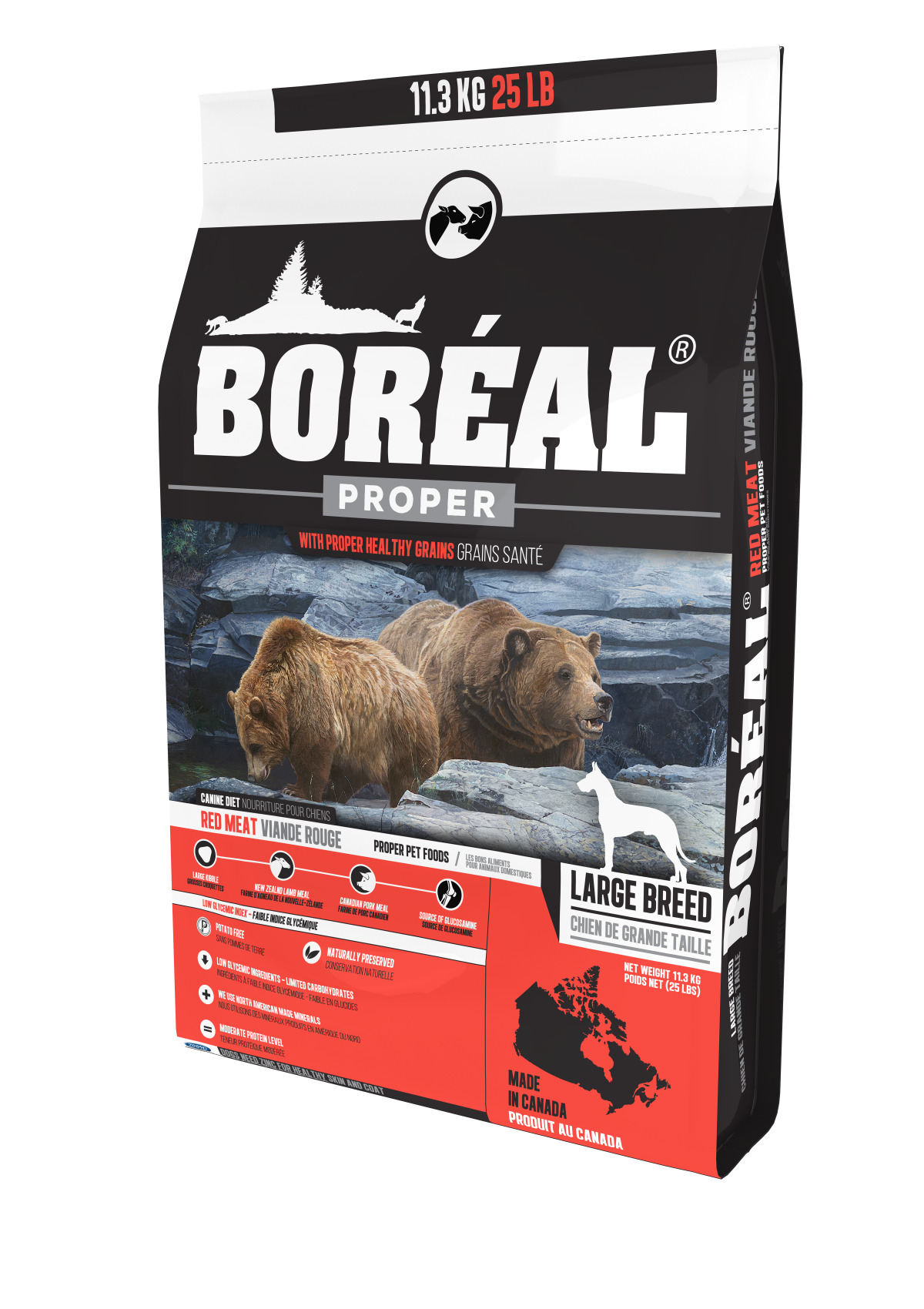 Proper Large Breed Red Meat - Low Carb Grains