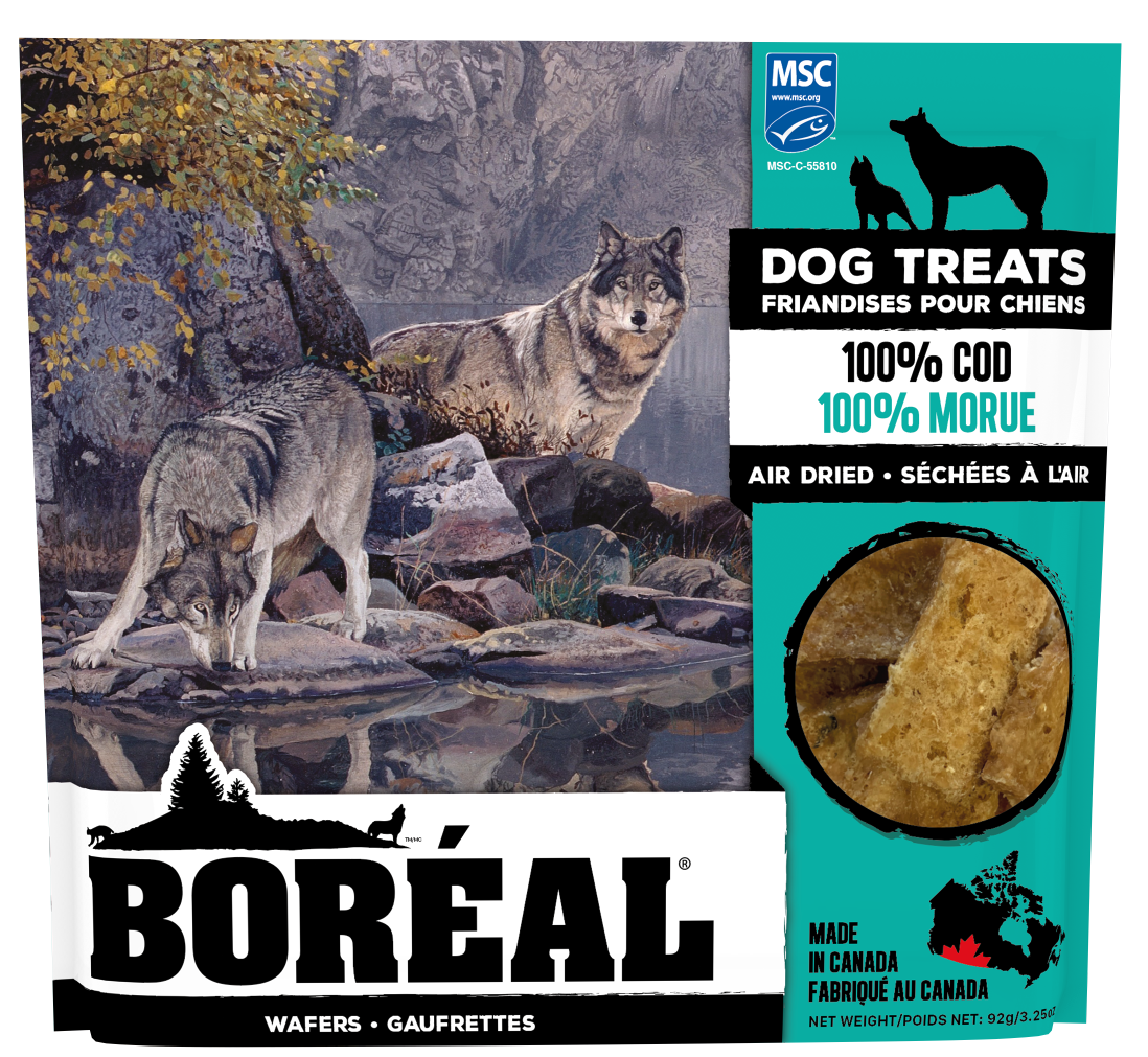 Boreal Dog Treats - 100% Cod  Air Dried Treats