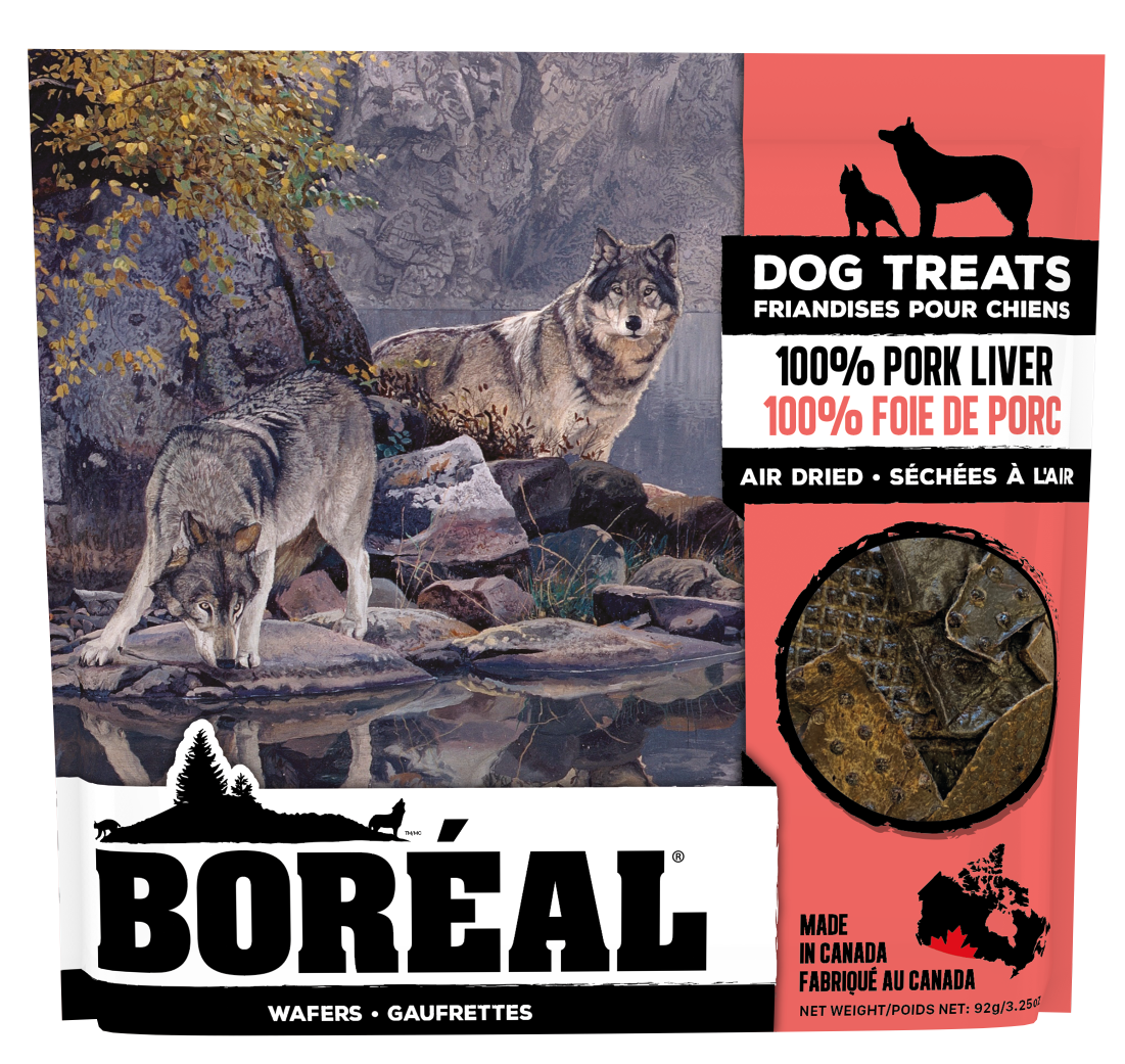 Boreal Dog Treats -100% Pork Liver Air Dried Treats