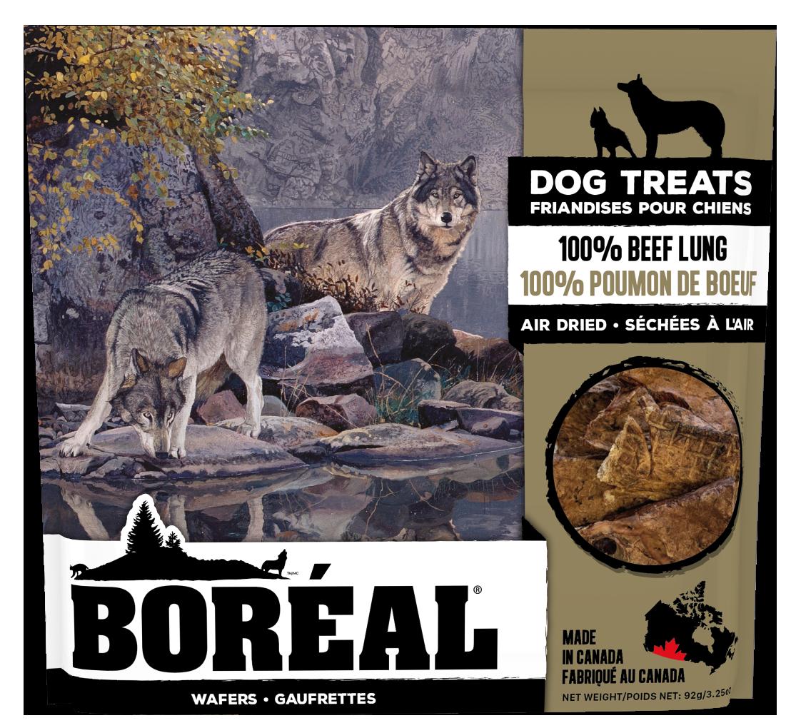 Boreal Dog Treats - 100% Beef Lung Air Dried Treats