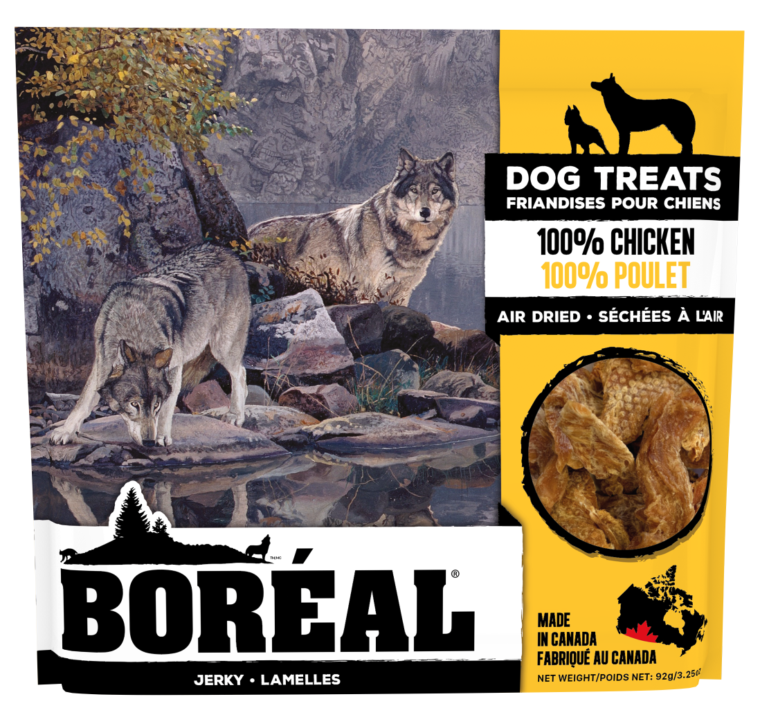Boreal Dog Treats - 100% Chicken Jerky Air Dried Treats